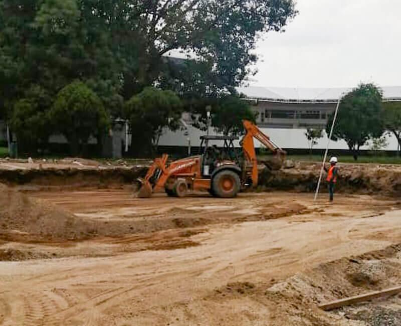 Construccion Unidad Deportiva Toluca